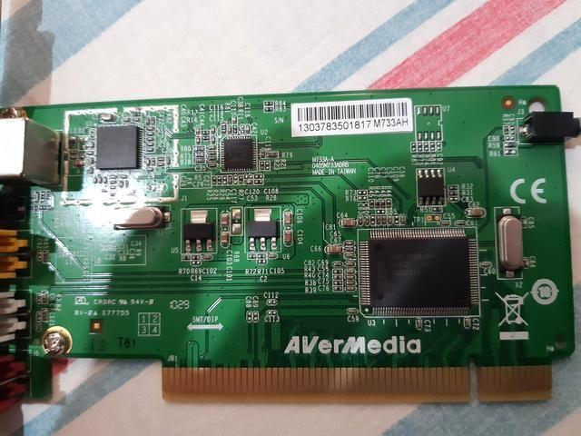 Placa De Captura Analógiaca De Tv E Video Avermedia M733a - Foto 2