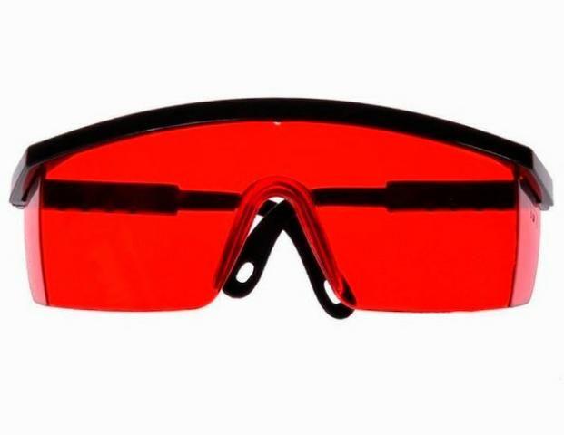 7e13bd0c77297 Óculos de Segurança Vermelho para Nível a Laser - Bijouterias ...