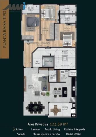 Premier residence apartamento frente mar com 03 suítes 123m em navegantes - Foto 4