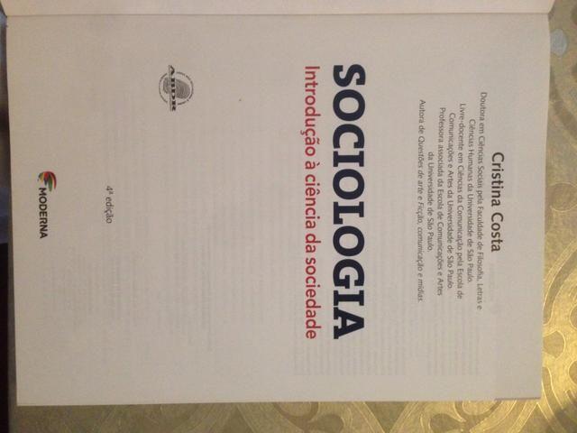 Livro Sociologia Introdução à ciência da sociedade -Cristina Costa - Editora Moderna - Foto 2