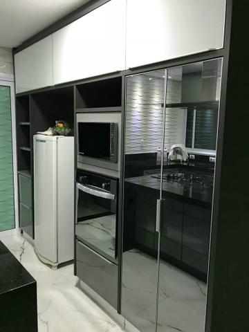 Cozinha planejada cores auto brilho faço tudo no MDF - Foto 2