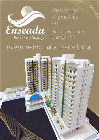 Apartamento Flat no Guarujá, 55m2 , Varanda Gourmet, Mobiliado! - Foto 13