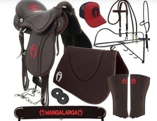 Kit Sela Mangalarga Marchador Soft Marrom Kit TOP - Foto 2