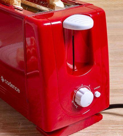 Torradeira Cadence Colors 7 Níveis De Tostagem 2 Fatias Tor111127 Vermelha 110V - Foto 4