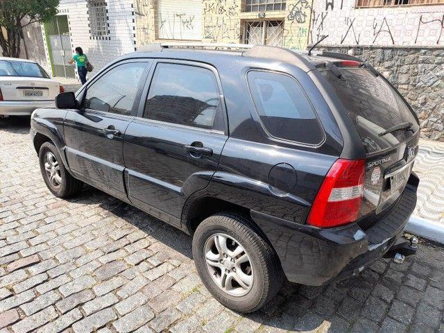 sportage lx 2.0 gasolina automatica  preta  2008  blindada - Foto 10