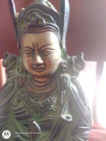Maravilhosa Ganesha,Buda em Bronze (antiga) - Foto 4