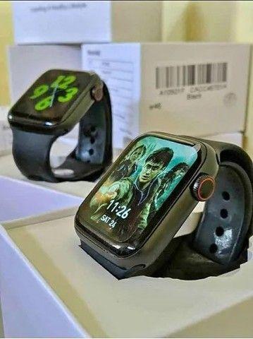 Smartwatch W46 Tela infinita Original Bluetooth Android IOS  - Foto 2