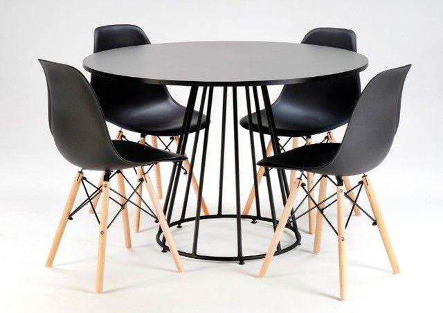 Conjunto de Mesa 1,10 de diâmetro + 4 cadeiras