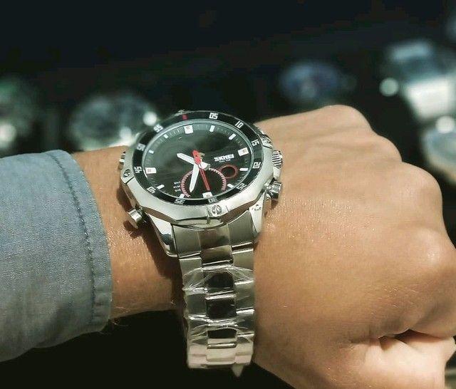 PROMOÇÃO Relógio Skmei Luxo - Foto 6