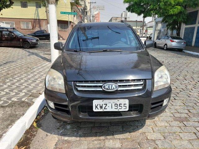 sportage lx 2.0 gasolina automatica  preta  2008  blindada - Foto 8