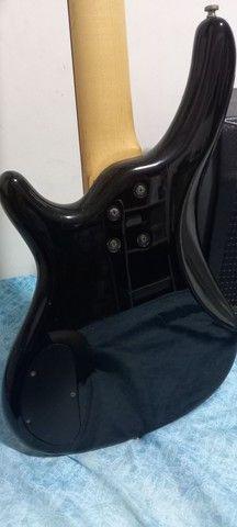 Contrabaixo Condor bx-12 4 cordas e amplificador Sheldon bss 180 - Foto 4