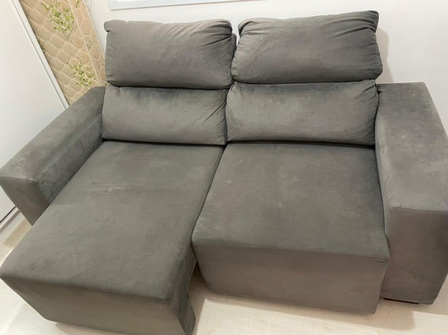 Sofá semi novo cinza  - Foto 3