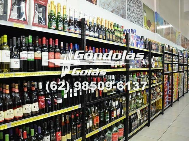 """Racks e expositores """"Gôndolas Goiás"""""""