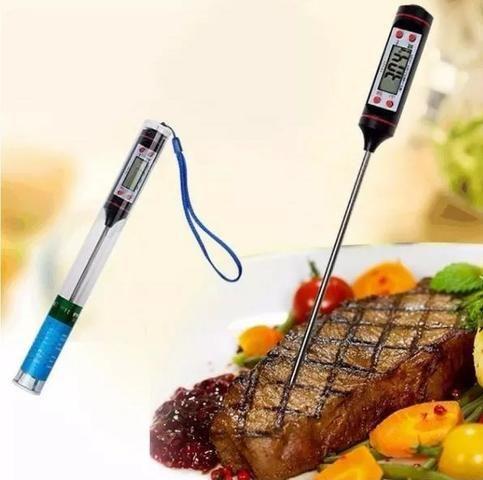 (NOVO) Balança Digital Cozinha Até 10 Kg + Termômetro Culinário - Foto 4