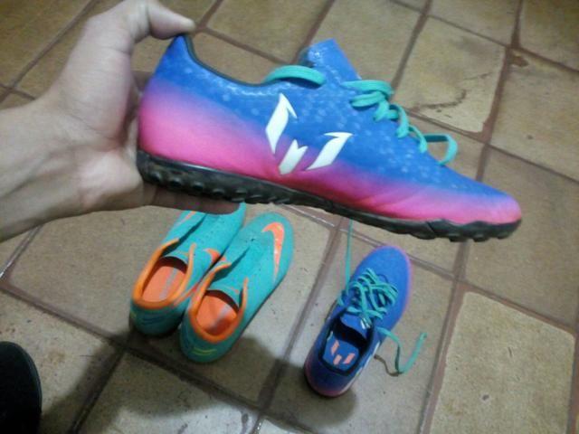 2 chuteiras, Nike mercurial e Adidas messi 16.4 - Foto 2