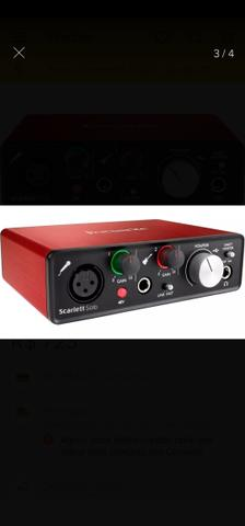 Interface Áudio Scarlett Solo USB (2a Geração) FOCUSRITE - Foto 4