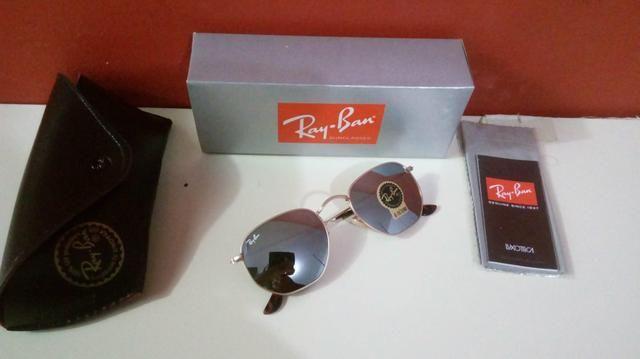Óculos Ray Ban Hexagonal Espelhado Unissex Novo Frete grátis - Foto 3