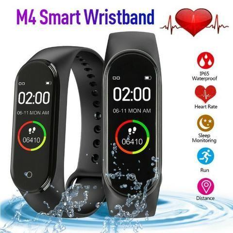 Relógio Inteligente SmartBand M4/Pulseira Inteligente a Prova D'água - Foto 4