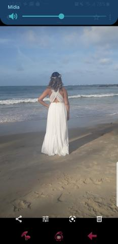 Vestido Off white Tamanho G - Foto 3