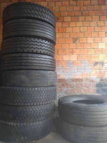 10 pneus 295 com câmera