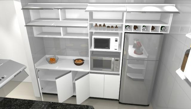 Cozinha armário Planejado 100% MDF. S/ a pedra - Foto 6