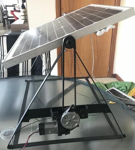 Tracker módulo solar mais estrutura com motor e movimentação unidirecional - Foto 2