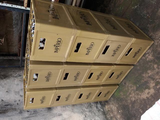 Caixa de cerveja mais cascos de 600ml