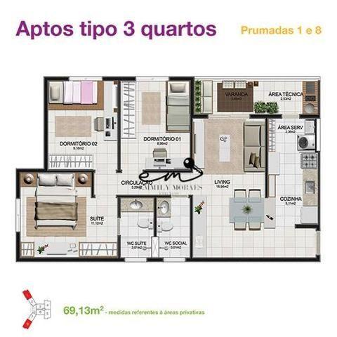 Imperial Park - Apartamento de 3 dormitórios - 100% Planejado - 1 suíte - VP1499 - Foto 15