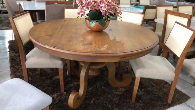 Mesa Antonieta seis madeira pura maciça