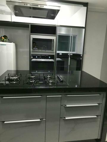 Cozinha planejada cores auto brilho faço tudo no MDF - Foto 3