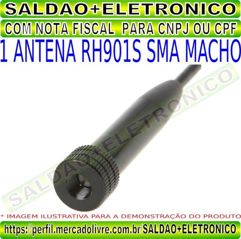 Antena rh901s sma macho adaptador conector sma macho dual band vhf uhf flexivel yaesu - Foto 2