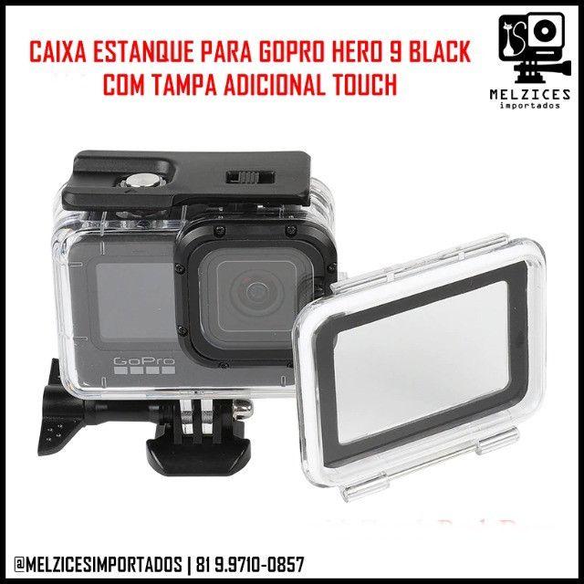 Caixa Estanque Para GoPro Hero 9 Black + Tampa Adicional Touch - Foto 3