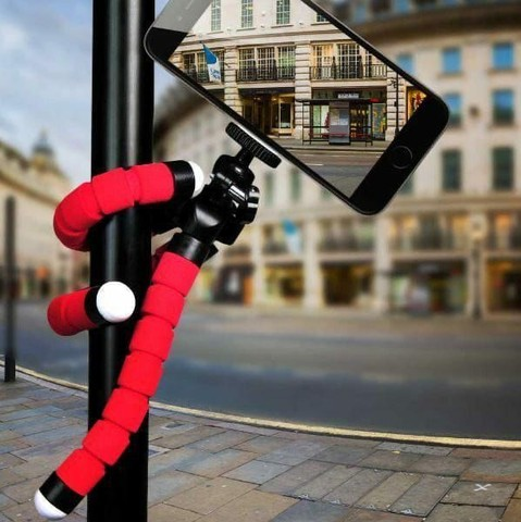 Mini tripé celular flexível suporte de celular câmeras go pro ajustável  - Foto 2