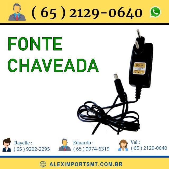 Fonte Chaveada Cftv 12 Volts 2A Bivolt Ipec fonte xaveada