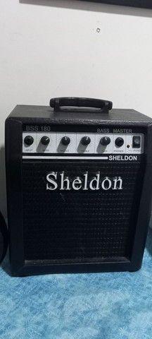 Contrabaixo Condor bx-12 4 cordas e amplificador Sheldon bss 180 - Foto 6