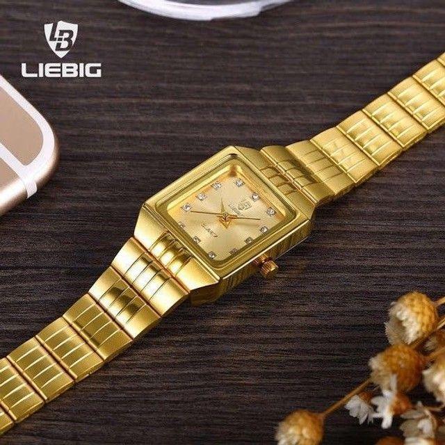 PROMOÇÃO Relógio Golden Quadrado - Foto 3