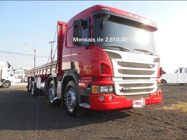 Scania P310 bitruck com carroceria e contrato de serviço(Lucas do Rio Verde)