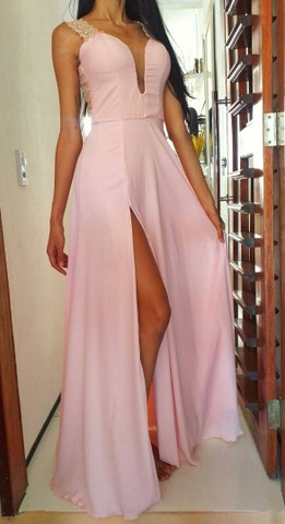Vestido de festa Rosa Bebê