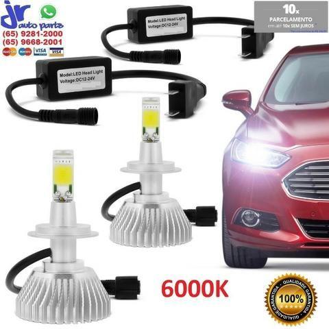 Kit Lâmpada Super LED Headlight H1 H3 HB4 H4 2 H7 H8 H9 H11 H27 6000K 12V  24V