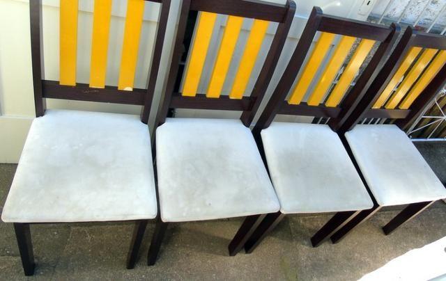 Mesa Madeira e Vidro com 4 cadeiras 90x90 cm - Foto 2
