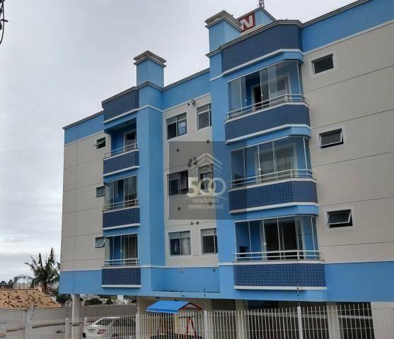 Ap0607 - apartamento 02 dormitórios, vista mar, 63m² à venda por r$ 170.000 - serraria - s
