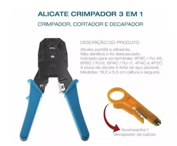 (NOVO) Alicate Crimpador 3 Em 1 Mb Tools - Foto 3