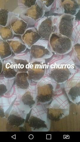 100 mini churros por R$30,00