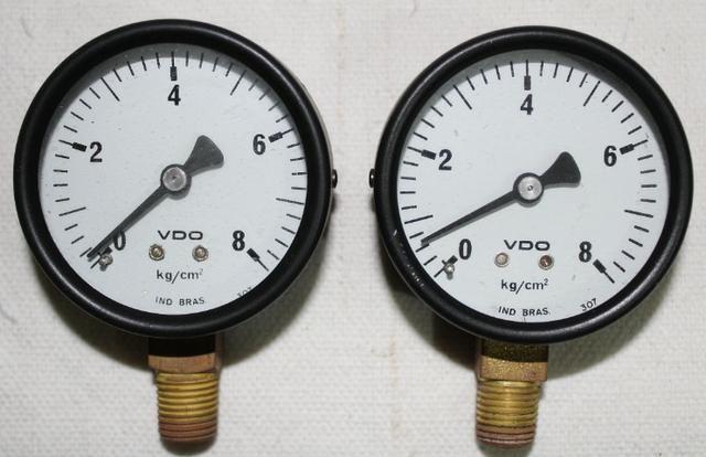 Manômetro 0 a 8 kg/cm²