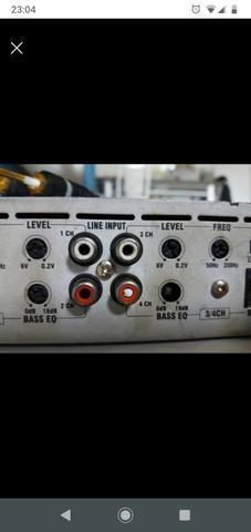 Som automotivo sub Pioneer módulo 1500 wt roadstar e trio cornetas e - Foto 2