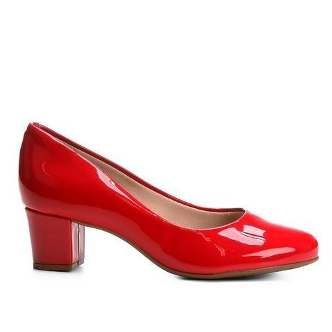 Scarpin Beira Rio Salto Baixo Conforto ? Disponível nas cores vermelho, bege e preto - Foto 2