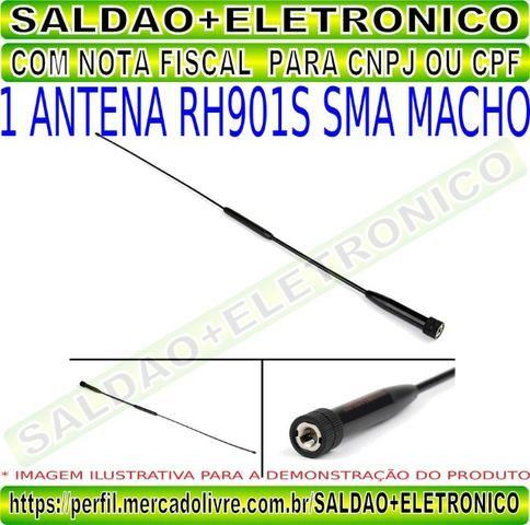 Antena rh901s sma macho adaptador conector sma macho dual band vhf uhf flexivel yaesu - Foto 5