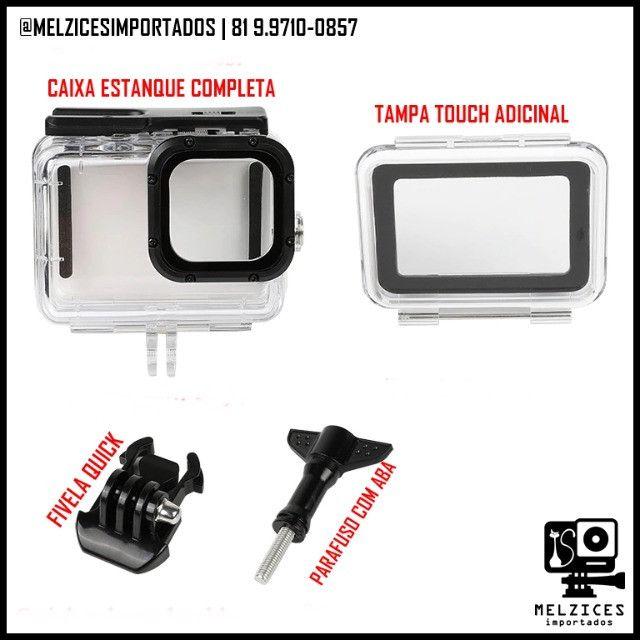 Caixa Estanque Para GoPro Hero 9 Black + Tampa Adicional Touch - Foto 4