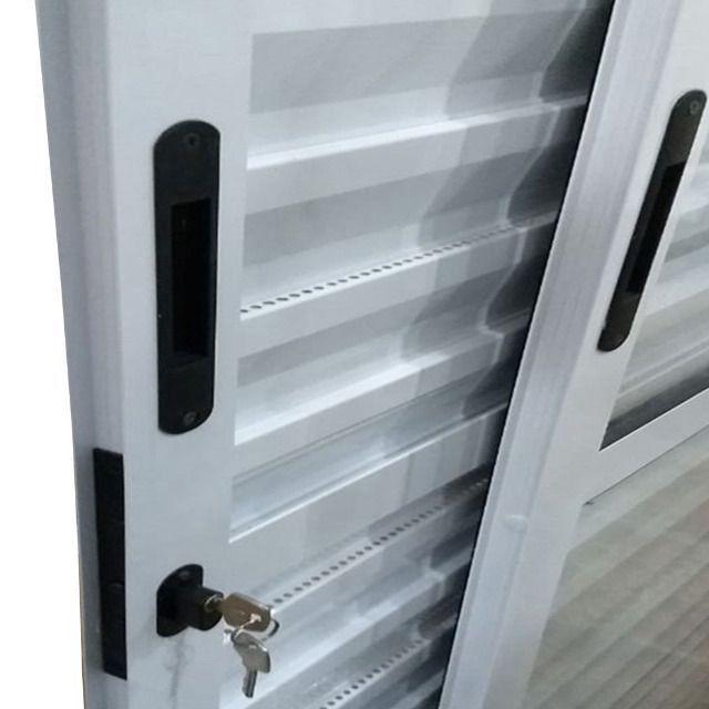 Porta Balcão de Correr Alumínio Branco Linha 25 2,10 x 1,50 Completa - Foto 2