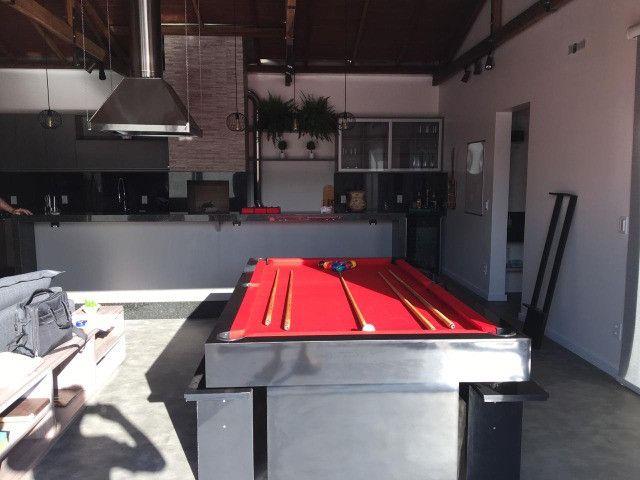 Mesa de Bilhar Sedução Preta Bl Tecido Vermelho Modelo IKH5101 - Foto 5